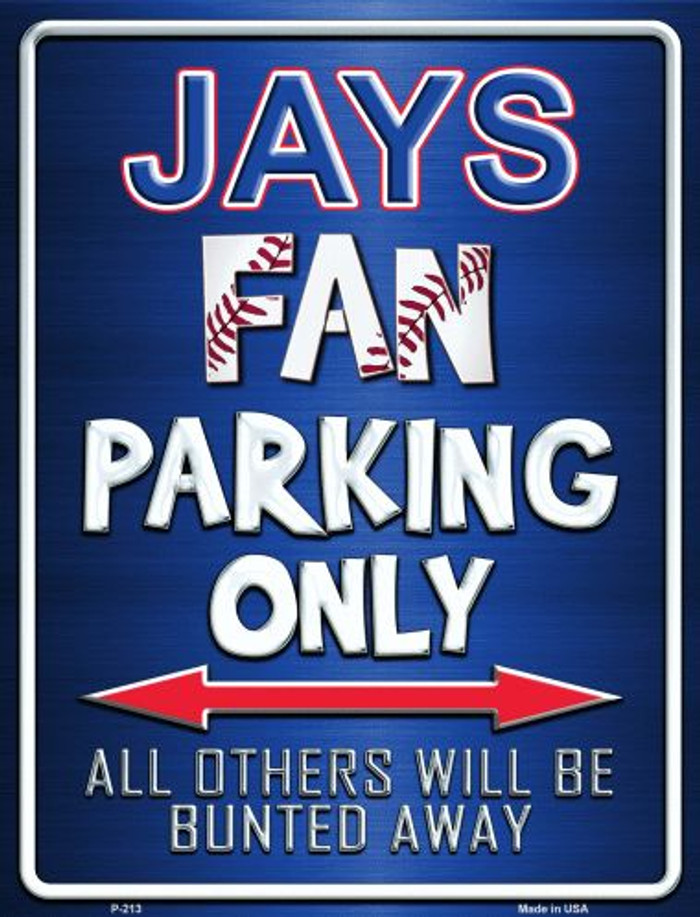 Blue Jays Metal Novelty Parking Sign