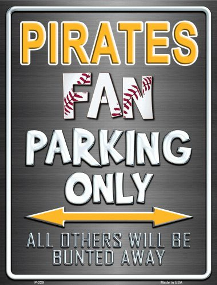 Pirates Metal Novelty Parking Sign