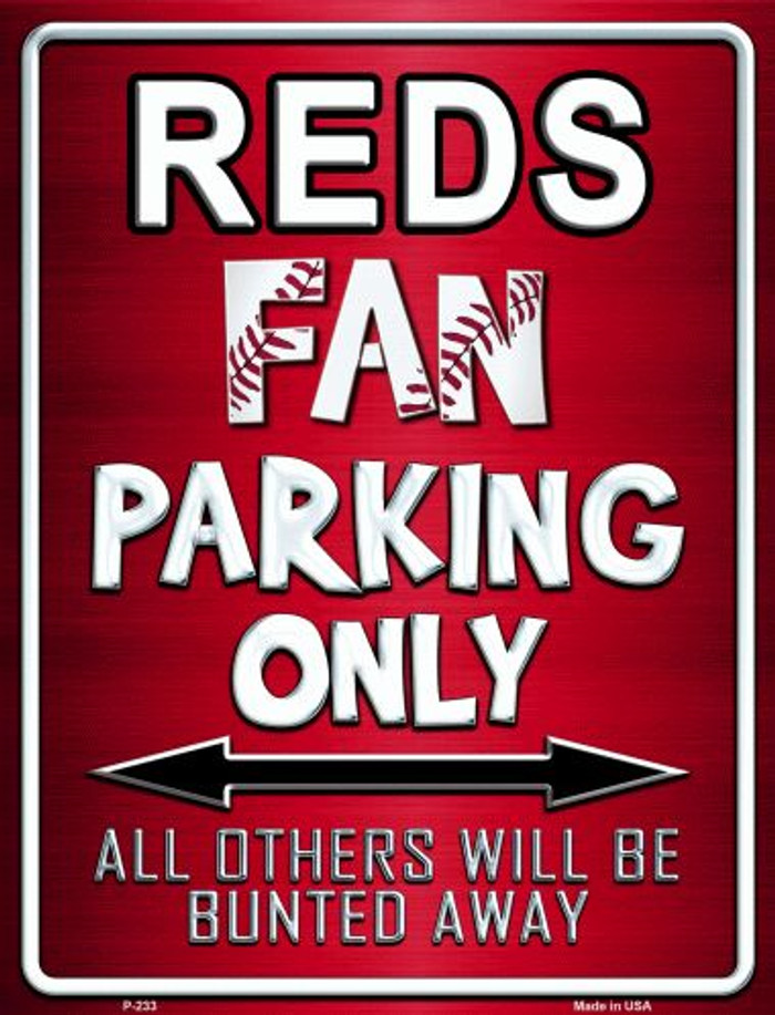 Reds Metal Novelty Parking Sign