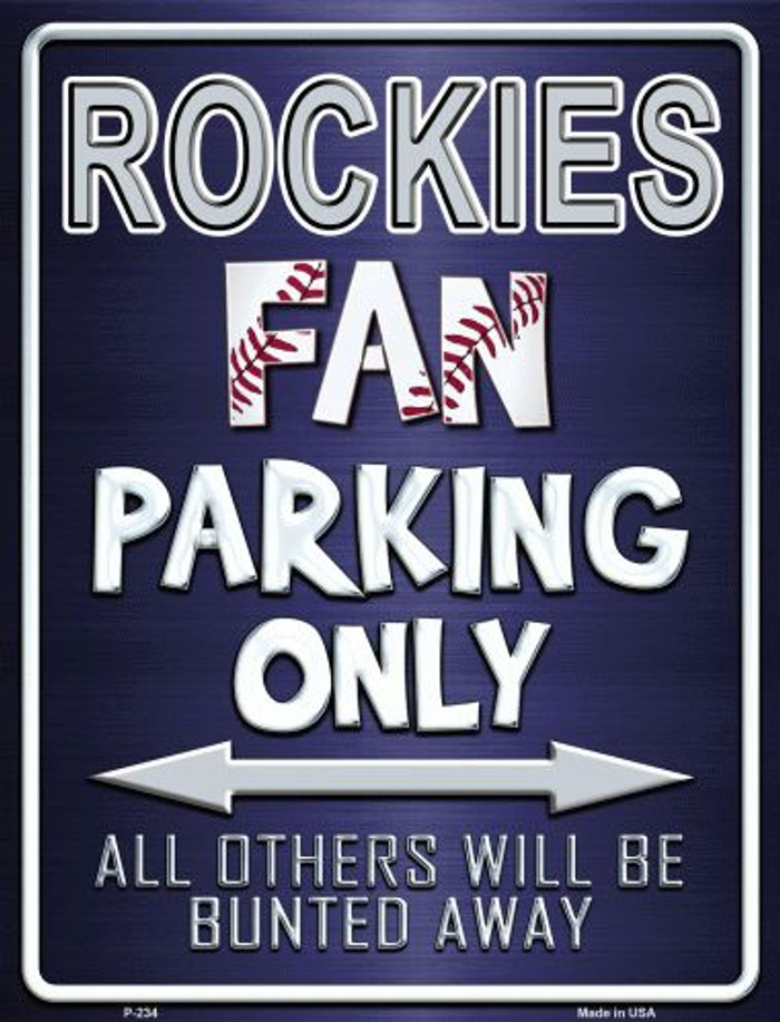 Rockies Metal Novelty Parking Sign