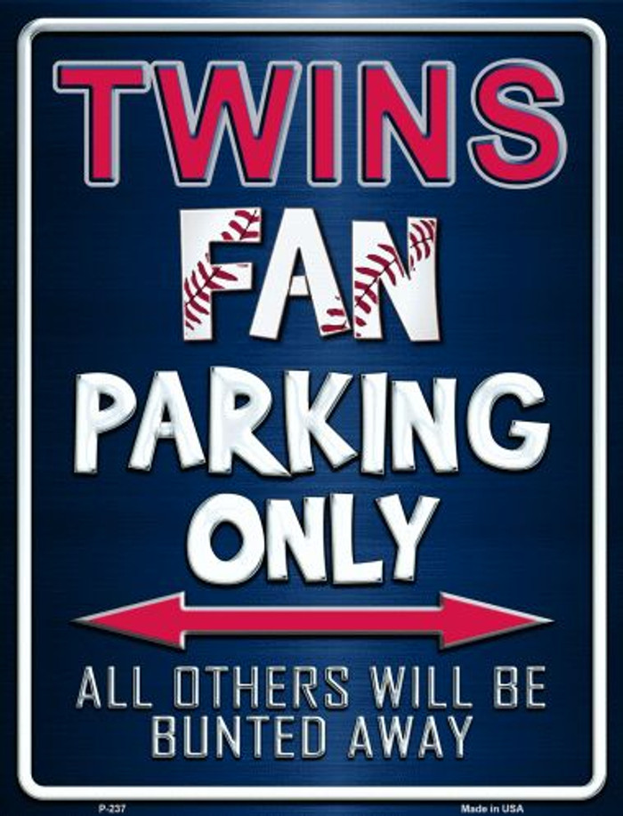 Twins Metal Novelty Parking Sign