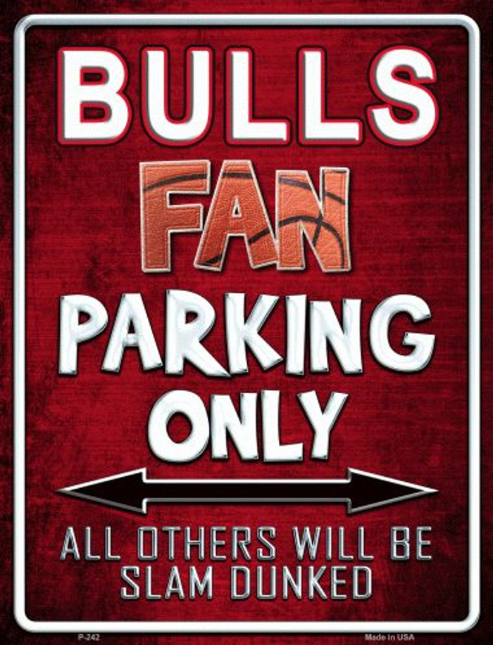 Bulls Metal Novelty Parking Sign