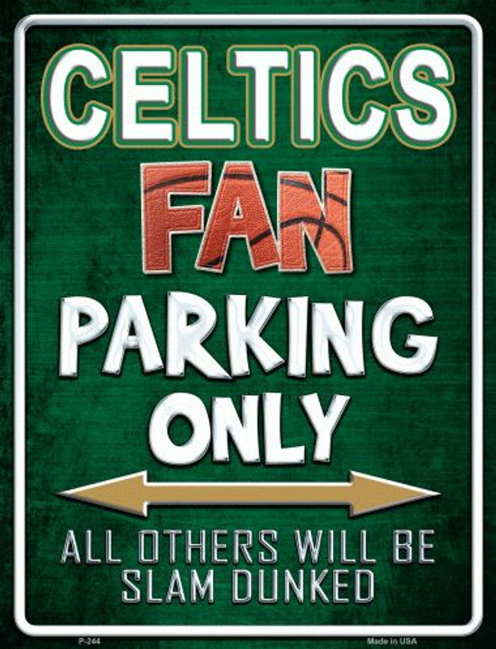 Celtics Metal Novelty Parking Sign