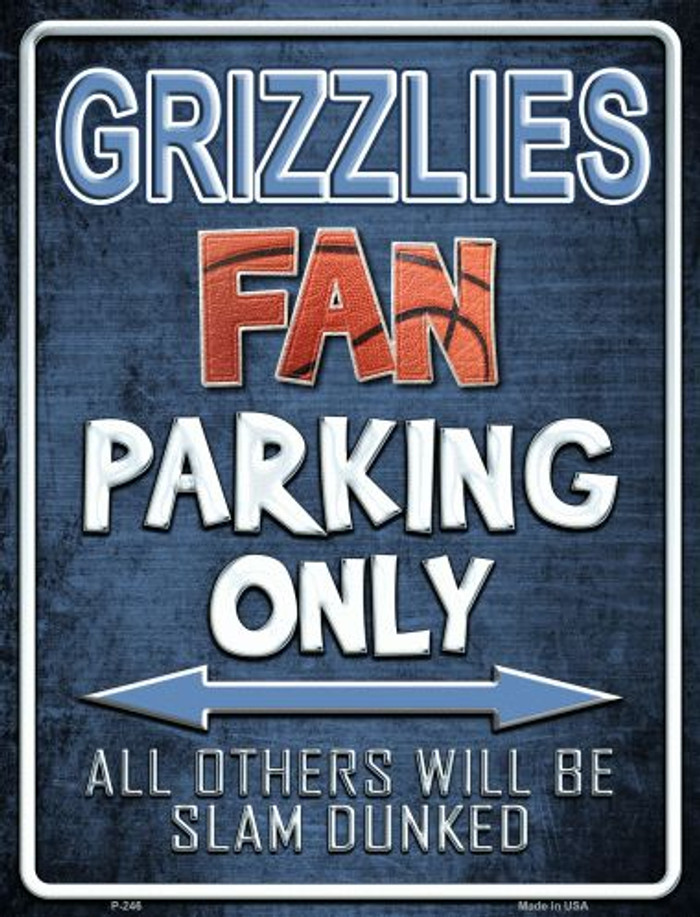 Grizzlies Metal Novelty Parking Sign