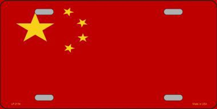 China Flag Metal Novelty License Plate
