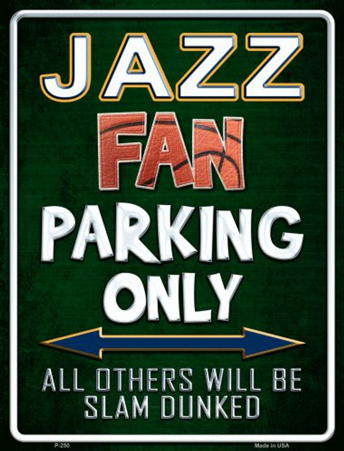 Jazz Metal Novelty Parking Sign
