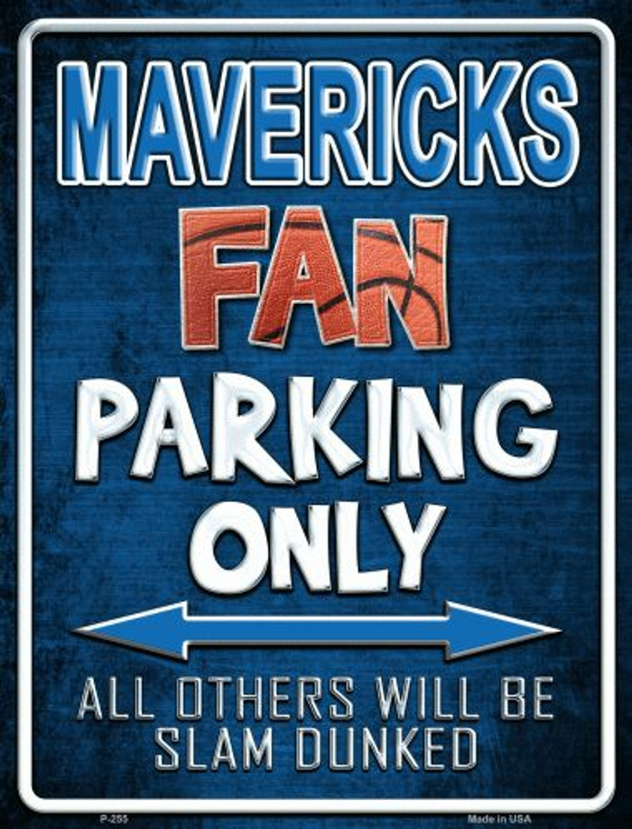 Mavericks Metal Novelty Parking Sign