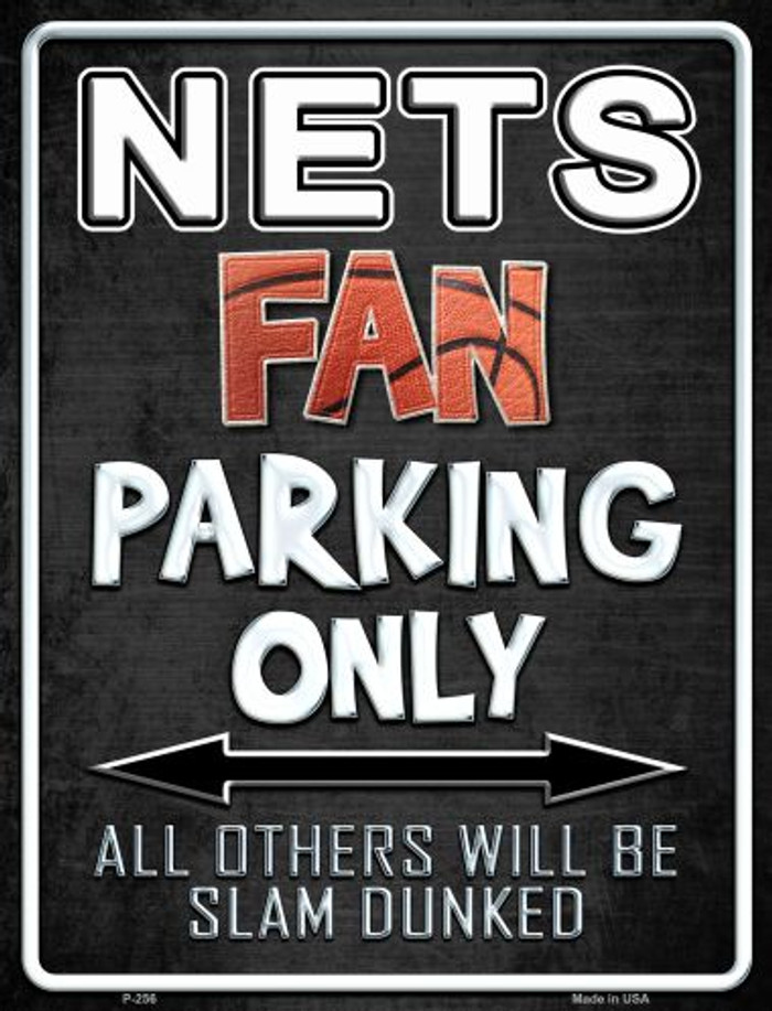 Nets Metal Novelty Parking Sign