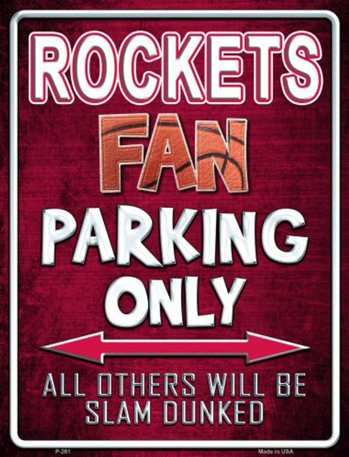 Rockets Metal Novelty Parking Sign