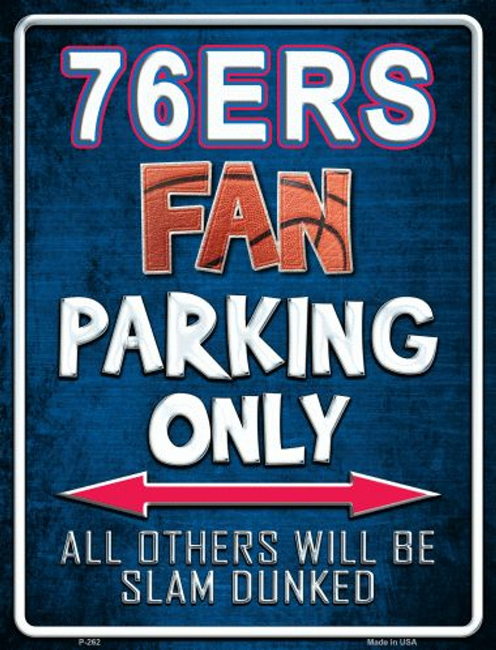 76ers Metal Novelty Parking Sign
