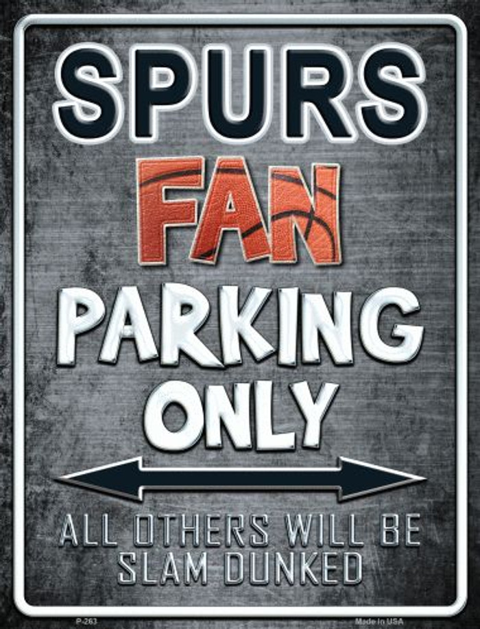 Spurs Metal Novelty Parking Sign