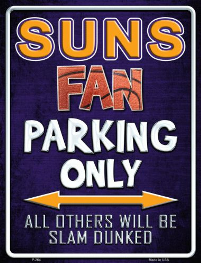 Suns Metal Novelty Parking Sign