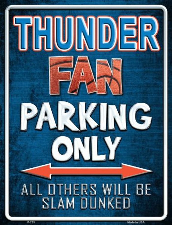 Thunder Metal Novelty Parking Sign