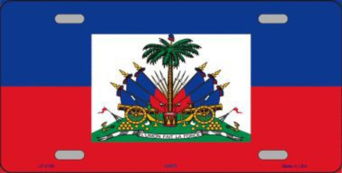Haiti Flag Metal Novelty License Plate