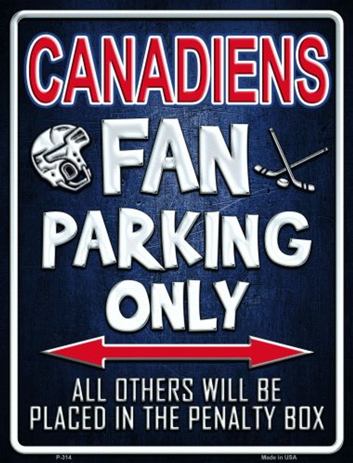 Canadiens Metal Novelty Parking Sign