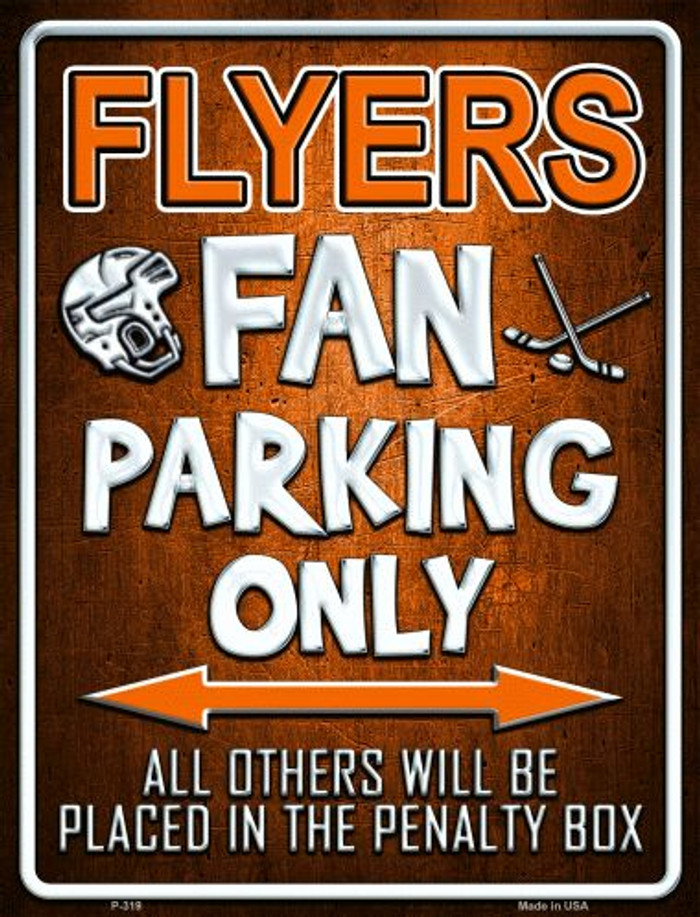 Flyers Metal Novelty Parking Sign