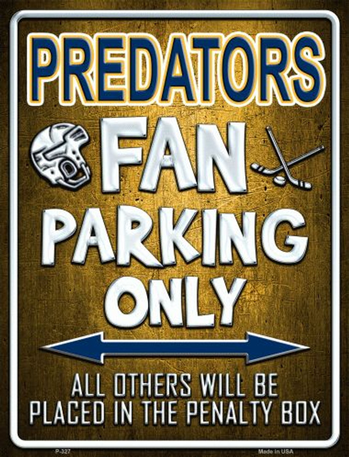 Predators Metal Novelty Parking Sign