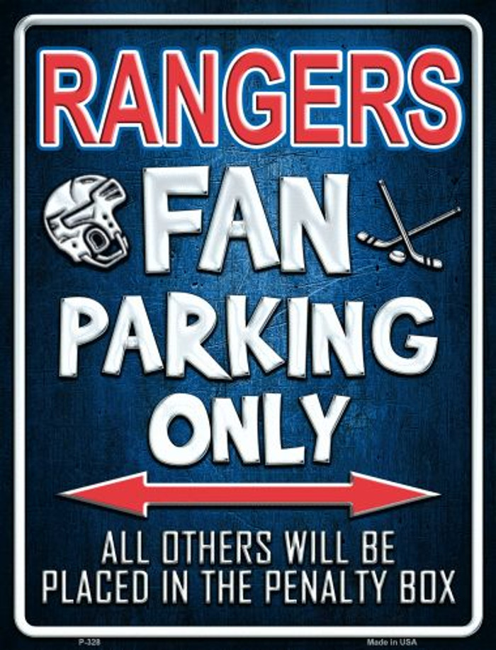 Rangers Metal Novelty Parking Sign