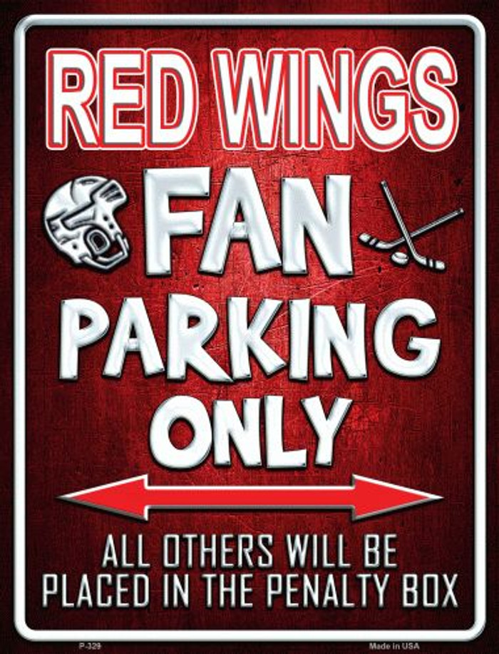Red Wings Metal Novelty Parking Sign