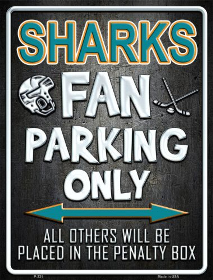 Sharks Metal Novelty Parking Sign
