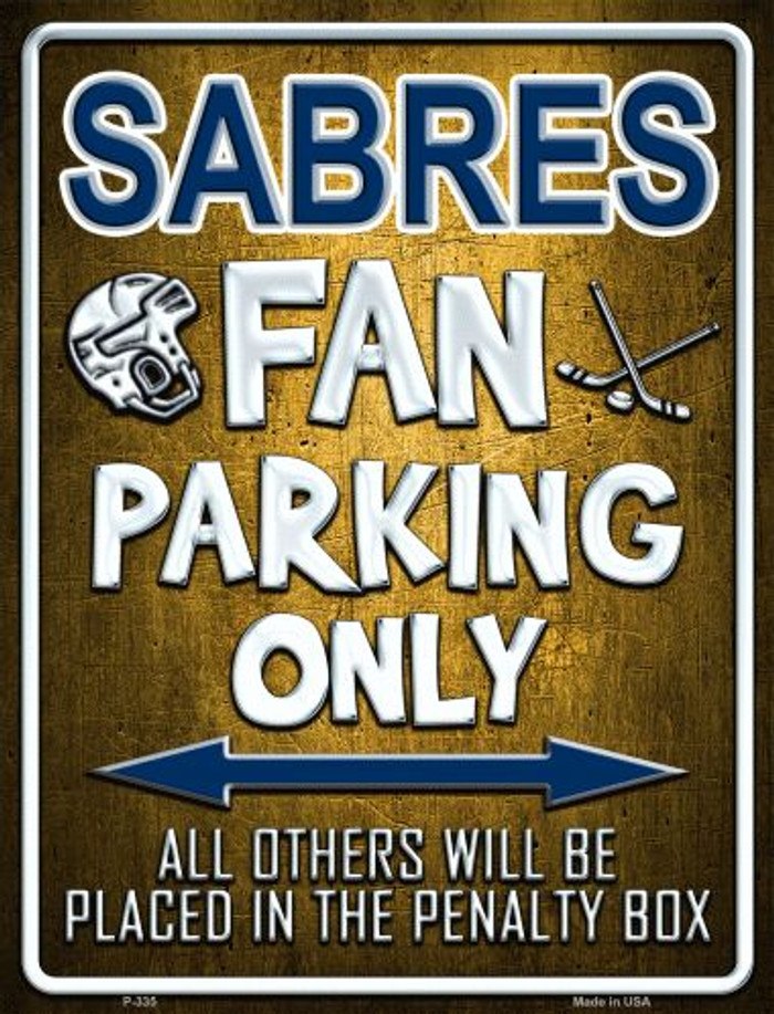 Sabres Metal Novelty Parking Sign