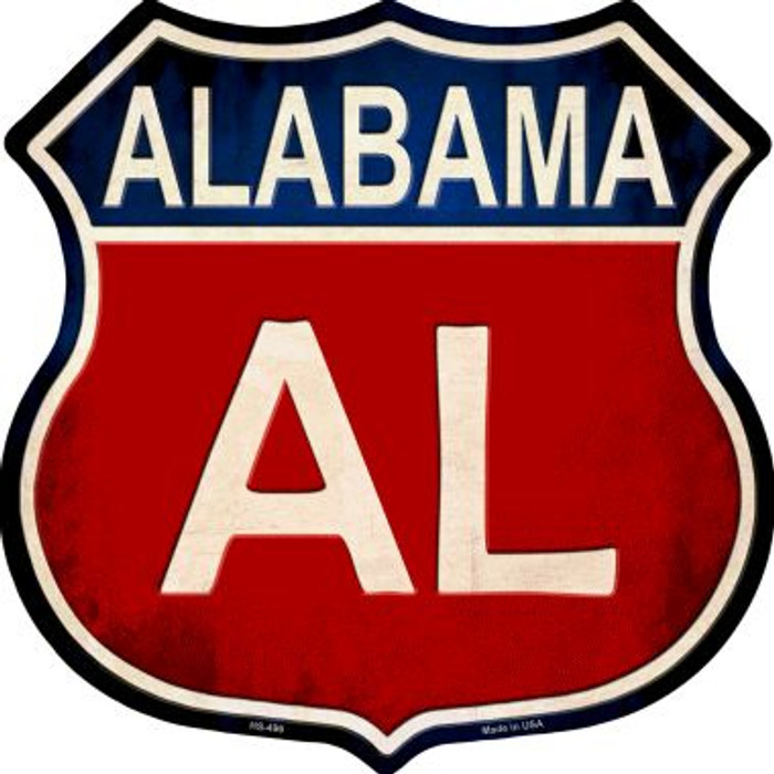 Alabama Metal Novelty Highway Shield