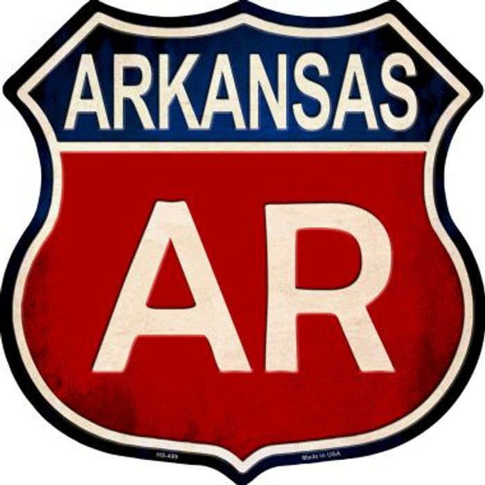 Arkansas Metal Novelty Highway Shield