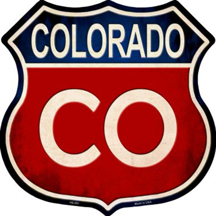 Colorado Metal Novelty Highway Shield