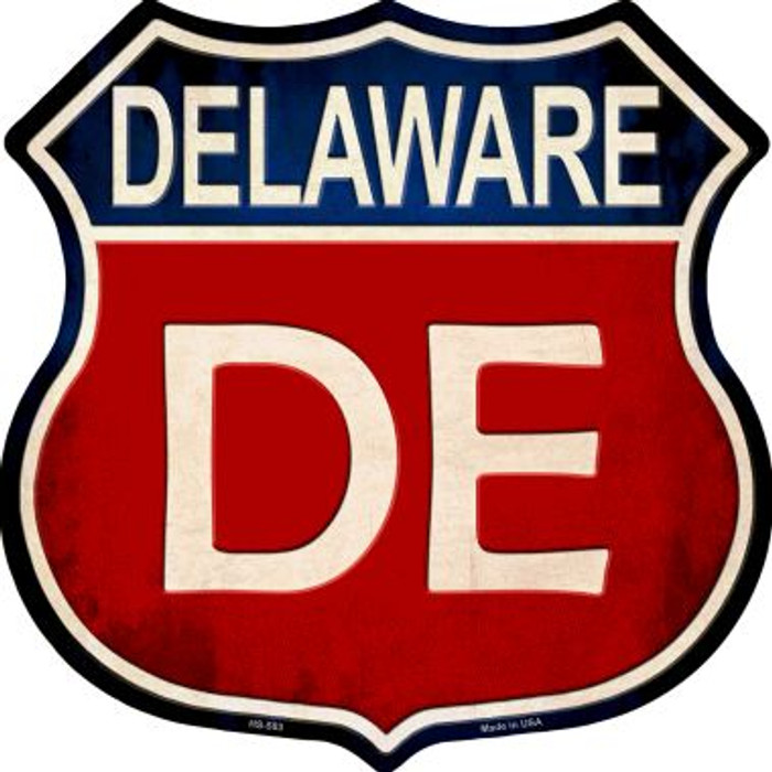 Delaware Metal Novelty Highway Shield