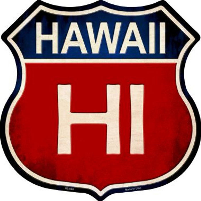 Hawaii Metal Novelty Highway Shield