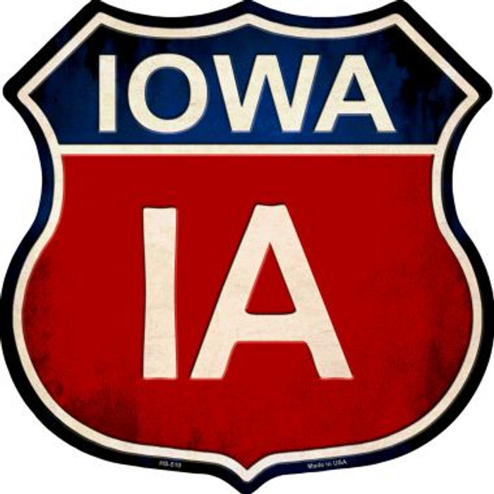Iowa Metal Novelty Highway Shield