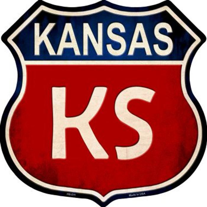 Kansas Metal Novelty Highway Shield