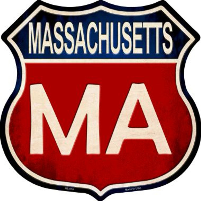 Massachusetts Metal Novelty Highway Shield