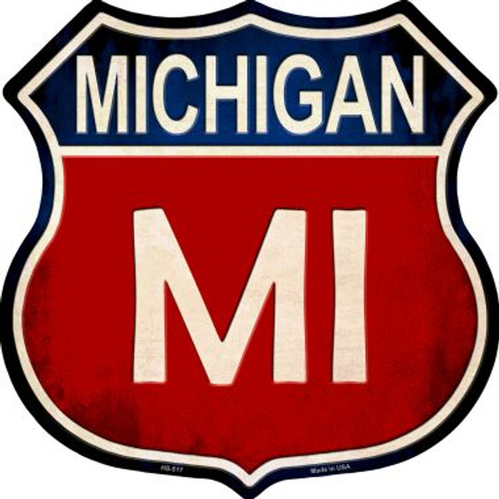 Michigan Metal Novelty Highway Shield