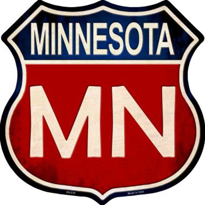 Minnesota Metal Novelty Highway Shield