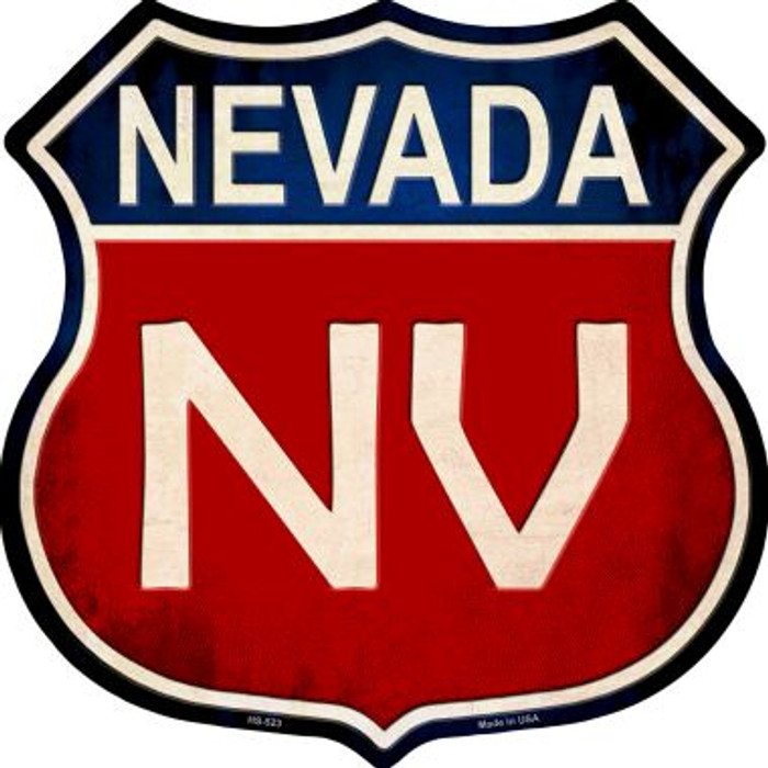 Nevada Metal Novelty Highway Shield