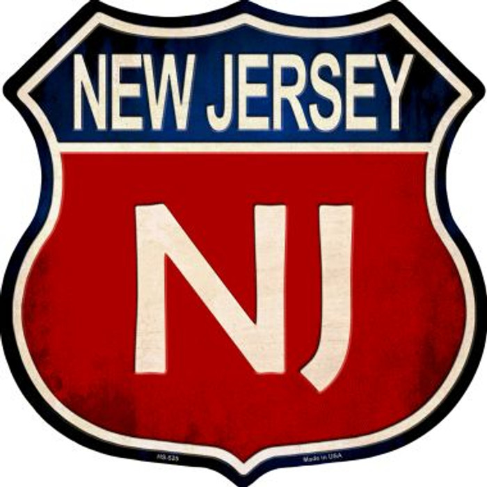 New Jersey Metal Novelty Highway Shield