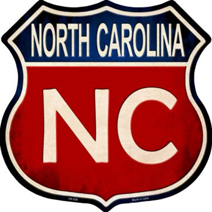 North Carolina Metal Novelty Highway Shield
