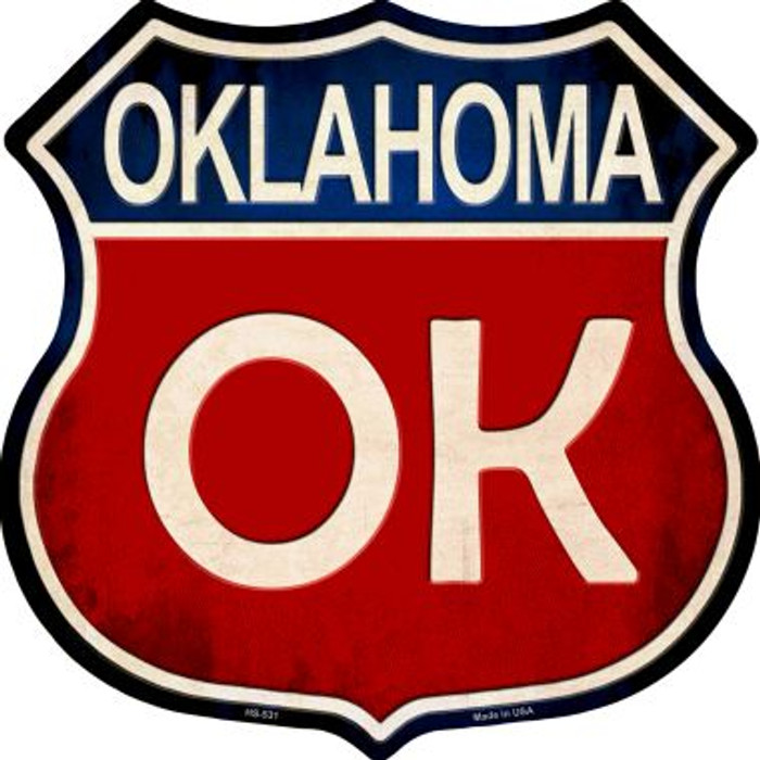 Oklahoma Metal Novelty Highway Shield