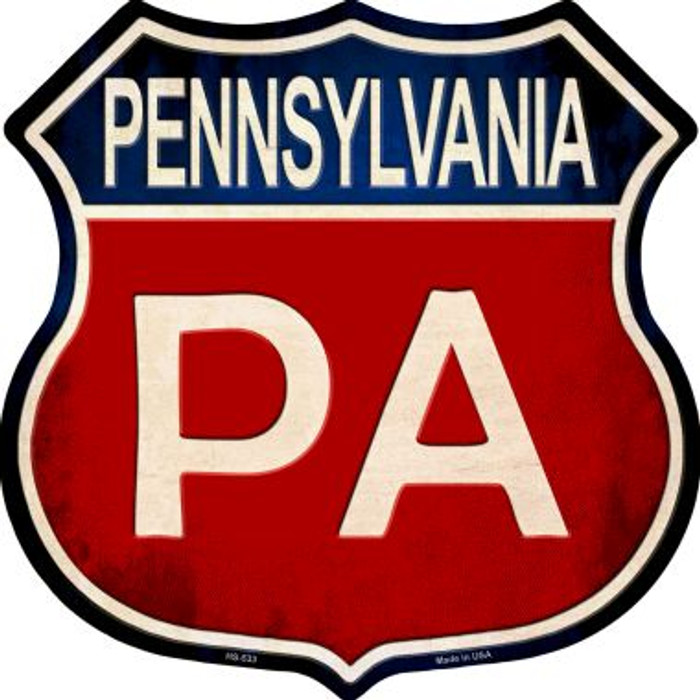Pennsylvania Metal Novelty Highway Shield