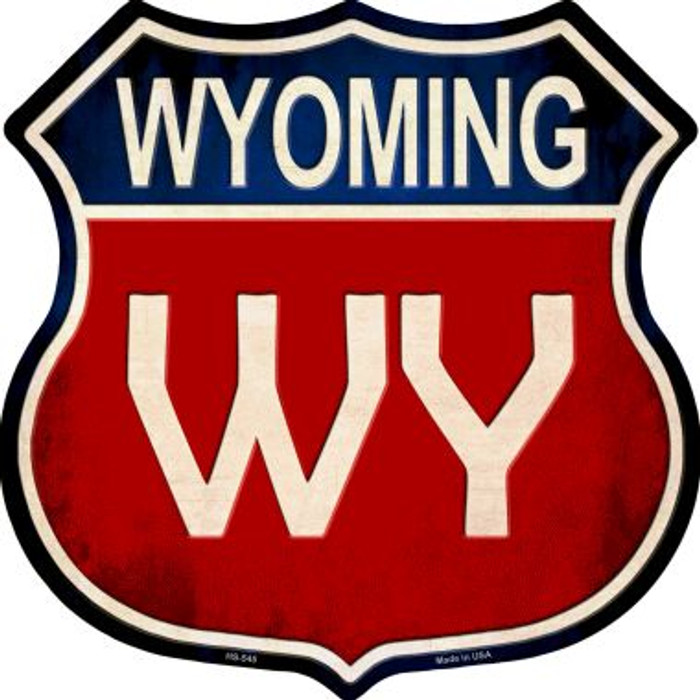 Wyoming Metal Novelty Highway Shield