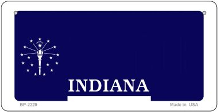 Indiana Novelty State Background Bicycle License Plate