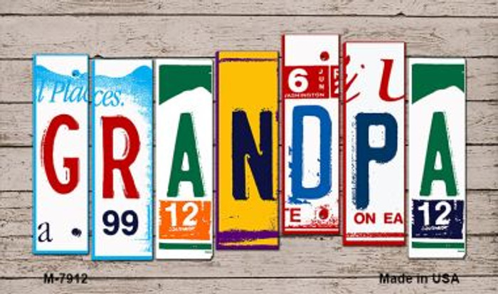 Grandpa License Plate Art Novelty Metal Magnet