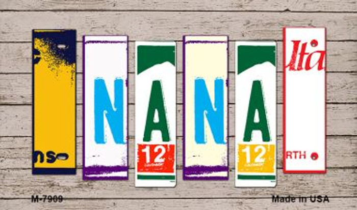 Nana License Plate Art Novelty Metal Magnet