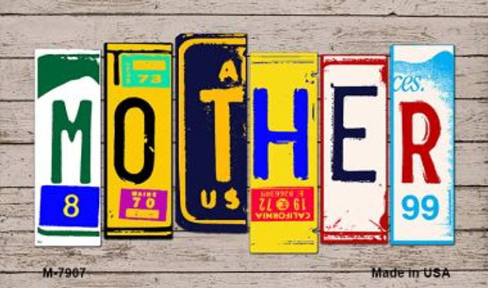 Mother License Plate Art Novelty Metal Magnet