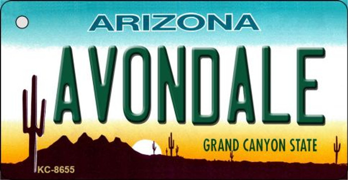 Avondale Arizona Background Novelty Metal Key Chain