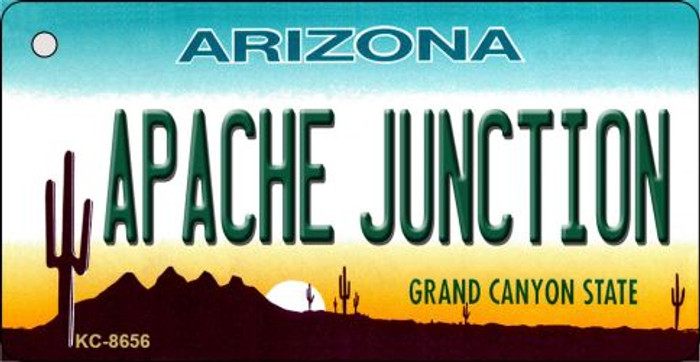Apache Junction Arizona Background Novelty Metal Key Chain