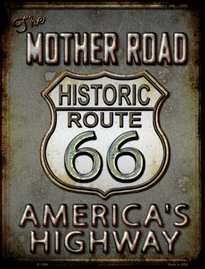 Historic Mother Road Route 66 Metal Novelty Parking Sign