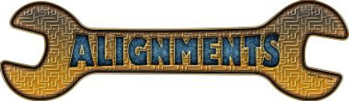 Alignments Novelty Metal Wrench Sign