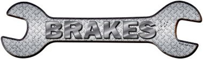 Brakes Novelty Metal Wrench Sign